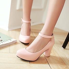 Women's Shoes Heel Heels / Platform / Round Toe Heels Office  Career / Dress / Casual Black / Pink / Purple / White