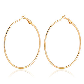 Women's Crystal Hoop Earrings - 18K Gold Plated, Gold Plated Statement, European, Fashion Gold / Rose Gold For Party Daily Casual