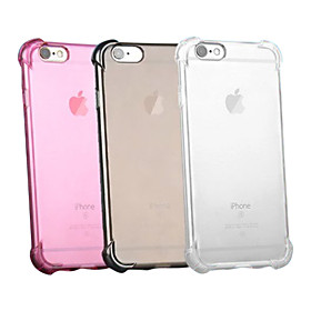 Case For Apple iPhone X iPhone 8 iPhone 6 iPhone 6 Plus iPhone 7 Plus iPhone 7 Shockproof Transparent Back Cover Solid Color Soft Silicone