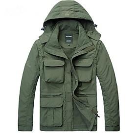 AFSJeep Men's Hiking Jacket Outdoor Winter Waterproof Thermal / Warm Quick Dry Windproof Ultraviolet Resistant Rain-Proof Front Zipper 4796399