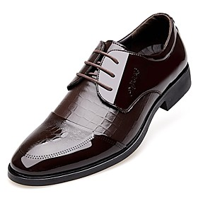 Men's Shoes Amir 2018 New Style Hot Sale Office  Career / Casual Patent Leather Oxfords Black / Brown 4813011