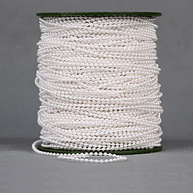 """Image of 100 Meters 1"""" (2.5cm) Width Pearl Beads Chain Garland Flowers Wedding Party Decoration"""