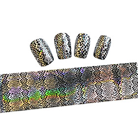 1PCS New 100x4cm  Mixed Nail Art Foils Priting Glitter Design  Nail Art DIY  Decorations  Sticker STZXK41-45