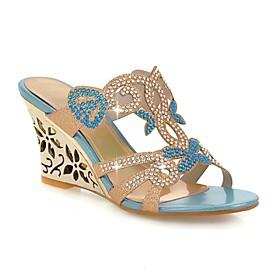 Women's Shoes Heel Wedges / Heels / Peep Toe / Slippers Sandals / Heels / Clogs  Mules Outdoor / Dress / CasualBlue /