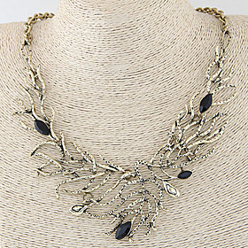 Women's Hollow Out Statement Necklace Ladies Vintage European Fashion Silver Bronze Necklace Jewelry For Wedding Party Daily Casual Masquerade Engagement Party