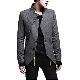 High Quality Men's Long Sleeve Regular Blazer , Cotton / Linen Pure Men Coat 4819895