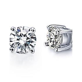 8 Colors Crystal Zircon Earrings Stud Earrings For Women 925 Sterling Silver Earrings Fashion Jewelry Accessories