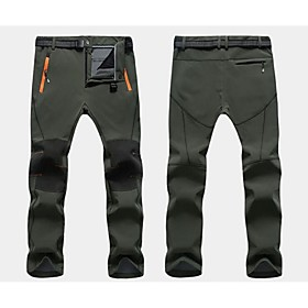 Men Outdoor Sports Casual Trousers Quick-Drying Hiking Waterproof Winter Ski Fleece Pants Warm(More Color) 4867111
