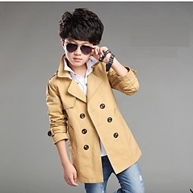 Image of Boy's 120-170CM High Cotton Jacket Coat / Trench Coat , Spring / Fall Long Sleeve