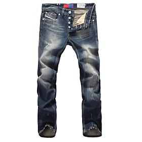 High Quality Famous Brand Men Jeans Straight Fit Men Casual Leisure Pants 100% Cotton Denim Jeans