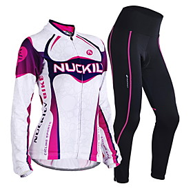 Nuckily Cycling Jersey with Tights Women's Long Sleeves Bike Clothing Suits Thermal / Warm Windproof Anatomic Design Moisture 4864331