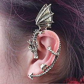 Ear Cuff Earrings Dragon Ladies Vintage Gothic Jewelry Silver / Golden For Halloween Daily Casual
