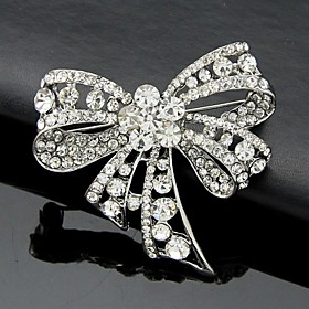 Women's Brooches - Crystal, Cubic Zirconia Bowknot Work, Fashion, Cute Brooc..