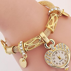 Women's Wrist Watch Imitation Diamond Alloy Band Analog Charm Vintage Heart ..