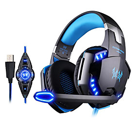 KOTION EACH G2200 Gaming Headphone USB 7.1 Surround Stereo Headset Vibration System Rotatable Mic LED 4611