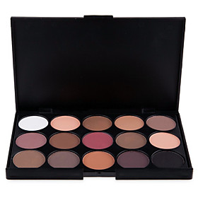 15 Colors Eyeshadow Palette Professional 2in1 Natural MatteShimmer Smoky Eyeshadow/Eyebrow Powder Cosmetic Palette(2 Color Choose) 4983848