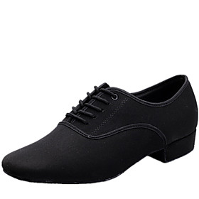 Men's Dance Shoes Canvas Modern Shoes Lace-up Heel Low Heel Non Customizable Black / Indoor / EU43 Category:Modern Shoes; Upper Materials:Canvas; Embellishment:Lace-up; Lining Material:Fabric; Heel Type:Low Heel; Actual Heel Height:0.98; Gender:Men's; Range:EU43; Style:Heel; Heel Height(inch):1 - 2; Outsole Materials:Leather; Occasion:Indoor; Closure Type:Lace-up; Customized Shoes:Non Customizable; Brand:Shall We; Listing Date:04/21/2016; Foot Length:; SizeChart1_ID:2:482; Size chart date source:Provided by Supplier.; Base Categories:Dance Shoes,Shoes,Apparel  Accessories; Popular Country:United Kingdom