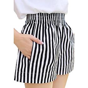 Women's Striped White Shorts / Wide Leg Pants,Casual / Day / Beach 4931962