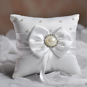 Ring Pillow Satin Asian Theme / Classic Theme / Fairytale Theme / Butterfly ThemeWithRibbons / Bow / Faux Pearl