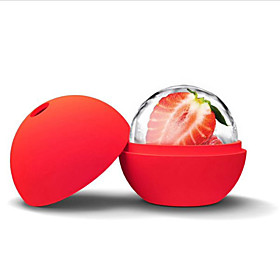 Ice Cube Ball Silicone Round Ice Cube Mold Ball Sphere Ice Mold Ball Maker(Random Color)