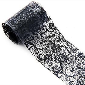 1pcs 3D Black Applique Nail Art Foil Stickers Flower Nail Decals Tips Manicure Tool Popular(1004Cm)