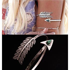 Europaische und amerikanische Auenhandel Folk-Stil Feder Malachit Armband e1166 Dreieck