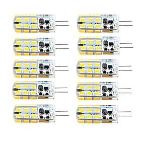 10pcs G4 3W 24led 2835SMD 260LM 3000K/6000K Warm White/Cool White Light Lamp Bulb(AC/DC 10-20V AC200-240V)