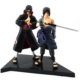 2PCS Uchiha SasukeUchiha Itachi 16CM PVC Anime Action Figures Doll Toys 4880447