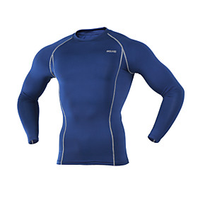 ARSUXEO Cycling Base Layer Men's Long Sleeve BikeBreathable / Thermal / Warm / Quick Dry / Lightweight Materials / Limits Bacteria /
