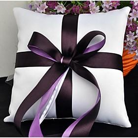 Ring Pillow Satin Beach Theme / Garden Theme / Vegas Theme / Asian Theme / Classic ThemeWithRibbons / Bow