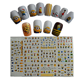 11pcs  New  Cartoon  Lovely  Small  Yellow Doll Water Transfer Nail Art Stickers STZ075-085 4911537