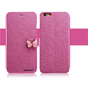 Case For Apple iPhone X iPhone 8 iPhone 6 iPhone 6 Plus Card Holder with Stand Flip Full Body Cases Glitter Shine Hard PU Leather for