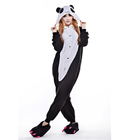 Kigurumi Pajamas Leotard/Onesie Festival/Holiday Animal Sleepwear Halloween Black/White Polar Fleece Kigurumi For UnisexHalloween /
