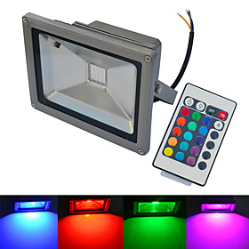 6000 6500/3000 3200 lm LED Floodlight 1 leds COB Waterproof Remote Controlled Warm White Cold White RGB AC 85 265V