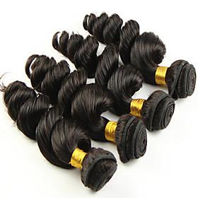Loose Wave Human Hair Weaves Brazilian Texture 50 8-26 Human Hair Extensions