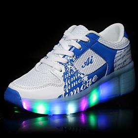 Unisex Kid Boy Girl LED Light Up Single Wheel Sneaker Athletic Shoe Sport Shoes Roller Shoes Dance Boot