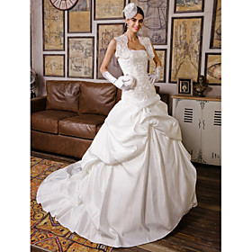Lanting Bride Ball Gown Petite / Plus Sizes Wedding Dress - Classic Timeless / Elegant LuxuriousWedding Dresses With Wrap / Vintage plus size,  plus size fashion plus size appare