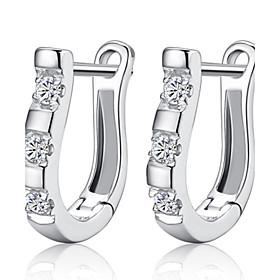 Women's Hoop Earrings - Sterling Silver, Silver Birthstones Silver For Weddi..