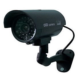 Home Surveillance Security Outdoor Waterproof Led Flashing Ir Simulation Camera