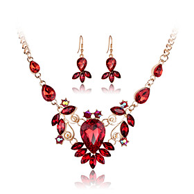 MISSING U Crystal / Alloy / Rhinestone / Rose Gold Plated Jewelry Set Neckla..