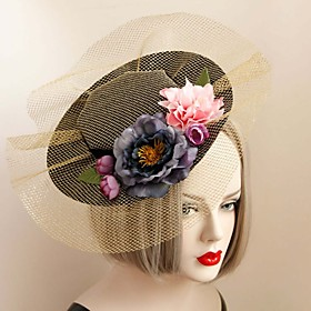The British Style Golden Vintage Hat plus size,  plus size fashion plus size appare
