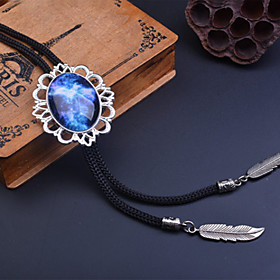 Starry Sky Artificial Gemstone Bolo Tie Outer Space Universe Necklaces Fom Man