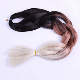 brown Box Braids Jumbo Hair Extensions 24inch Kanekalon 3 Strand 80-100g/pcs gram Hair Braids