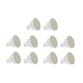 7W GU10 LED Spotlight 18 SMD 5630 570 lm Warm White / Cool White AC 220-240 V 10 pcs
