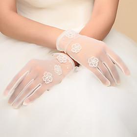 Wrist Length Fingertips Glove Nylon Bridal Gloves Party/ Evening Gloves Spring Fall Winter Bow