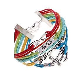 Faith, Love  Anchor Bracelet-Antique Silver Charm Bracelet inspirational bracelets Jewelry Christmas Gifts