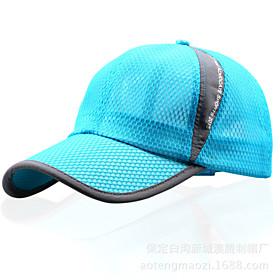 Image of Hat Ultraviolet Resistant Unisex Baseball Summer White / Gray / Dark Gray / Light Gray / Royal Blue / Beige / Sky Blue-Sports