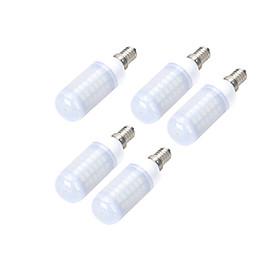 5pcs E14/E27 10W 1000LM Frosted 69-5730 SMD Warm/Cool White Light LED Corn Bulb (AC 220~240V)