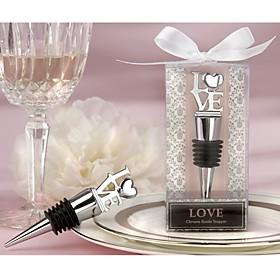 LOVE Chrome Bottle Stopper Wedding Favors, Bridesmaids Party Souvenirs 4997597