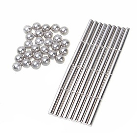 63 pcs 6mm Magnet Toy Building Blocks Puzzle Cube Neodymium Magnet Magnet Kid's / Adults' Boys' Girls' Toy Gift